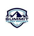 mountain shield logo vector image vector image