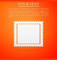 postal stamp icon isolated on orange background vector image