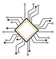 processor circuit flat icon vector image