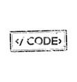 programer code stamp vector image vector image