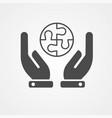 puzzle icon sign symbol vector image
