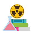 school books lab flask vector image