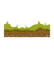 seamless ground soil and land image for ui vector image vector image