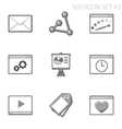 SEO and internet icon set vector image