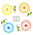 Set of colorful flower vector image