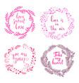 set of wreath love vector image