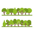 set trees collection park vector image