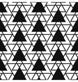 Simple triangle net shape black and white seamless vector image vector image