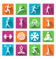 Sport and fitness colorful icons vector image vector image