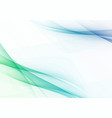 spring fresh abstract swoosh wave lines vector image vector image