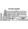 sri lanka colombo line skyline vector image