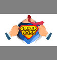 super boss sign successful business man vector image