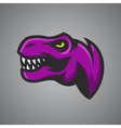 Tyrannosaurus Rex head Sport mascot vector image