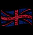 waving united kingdom flag pattern of life star vector image vector image
