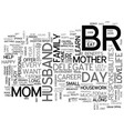 what only one day a year for mom text word cloud vector image vector image