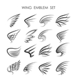 Wing Logo set vector image vector image