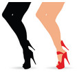 woman legs in atractive shoes set vector image vector image