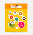 Yellow and Orange Brochure - Business Education vector image