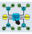 Infographic of marketing strategy vector image