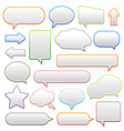 pop-up bubble with shadow on white background vector image