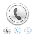 Telephone Icon on Button vector image