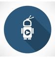 TV robot vector image