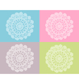 Crochet work vector image