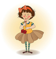 funny girl with icecream vector image