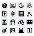 Justice icon set vector image