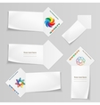 Set of banners with logo Paper labels for your vector image