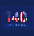 140 anniversary usa vector image vector image