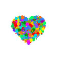 abstract heart shape made from colorful splashes vector image
