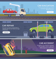 accident road banners urban landscape vector image vector image