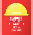 banner background for labour day austratlia in 1 vector image vector image