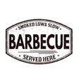 barbecue grunge rubber stamp vector image