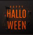 beautiful black greeting card for halloween vector image