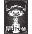 Beer festival document template vector image vector image