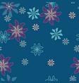 blooming geometric flowers on teal pattern vector image vector image