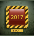 button with the inscription 2017 new year concept vector image vector image
