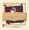 carnival label vintage icon vector image