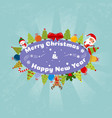 christmas happy christmas companions vector image