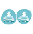 clean and dirty dishes kitchen plates before and vector image