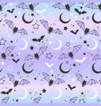 cute seamless pattern of bats on the background vector image