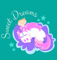 cute unicorn isolated set magic pegasus flying vector image vector image