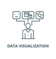 data visualization line icon linear vector image