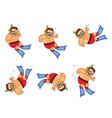 Diver Boy Sinking Sprite vector image vector image