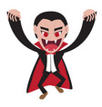 dracula with cape in flat style character vector image