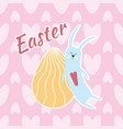 easter card background of hearts the hare sleeps vector image vector image