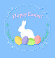 eggs and rabbit vector image