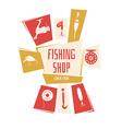 Fishing Shop Background vector image